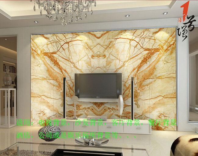 欧式大理石材花纹仿玉电视沙发背景墙设计