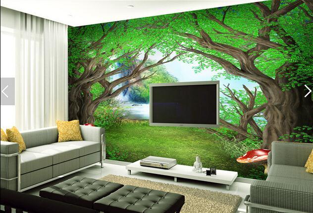 童话森林儿童房背景墙